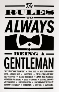 Rules to become a gentleman